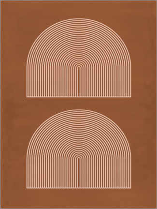 Aluminium print  Terracotta arches - Sisi And Seb