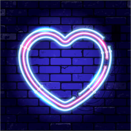 Wall sticker  Heart - neon sign - TAlex