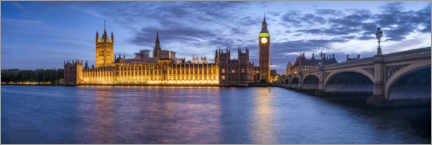 Premium poster Big Ben and Palace of Westminster at night