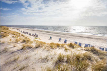 Premium poster  Beach chairs on Sylt beach - Christian Müringer