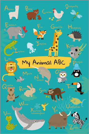 Premium poster  My animal ABC I - Julia Reyelt