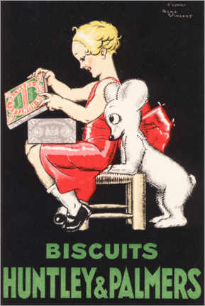 Premium poster Biscuits Huntley & Palmers