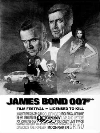 Foam board print  James Bond - Film Festival - Entertainment Collection