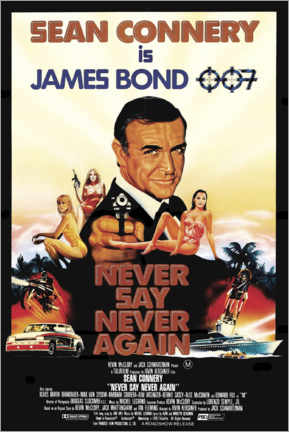 Premium poster  Never Say Never Again - Entertainment Collection