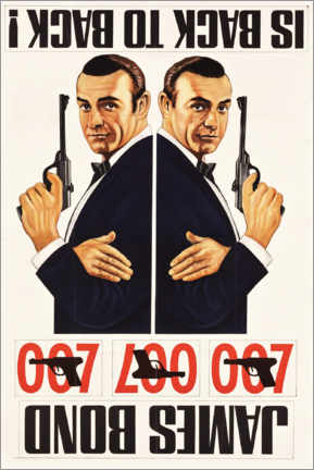 Acrylic print  James Bond is back to back - Entertainment Collection