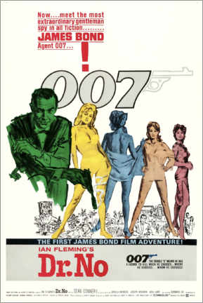 Aluminium print  James Bond: 007 chases Dr. No English) - Entertainment Collection