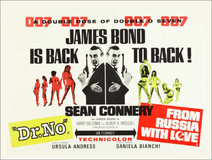 Wood print  James Bond is back! - Entertainment Collection