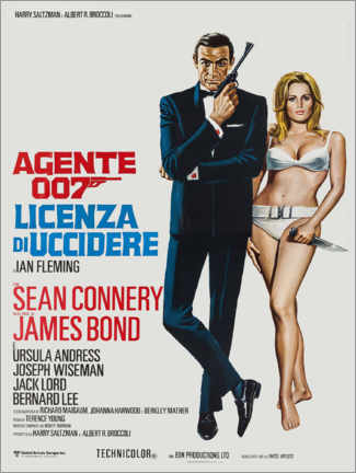 Premium poster  Dr. No  (Italian) - Entertainment Collection