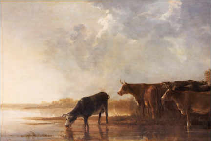 Premium poster  River landscape with cows - Aelbert Cuyp