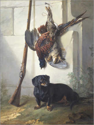 Gallery print  A hunting dog and its prey - Jean-Baptiste Oudry