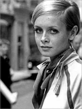 Acrylic print  Twiggy in London - Celebrity Collection