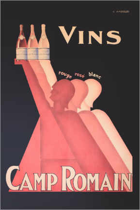 Premium poster  Camp Romain wines - Advertising Collection