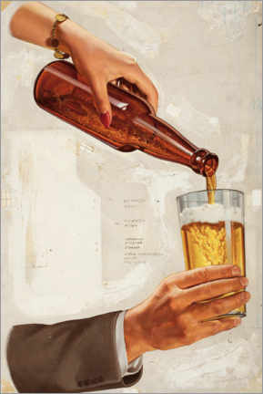 Aluminium print  A nice cold beer - Advertising Collection