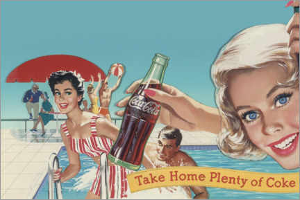 Gallery print  Coke by the pool - Advertising Collection