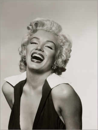 Foam board print  Marilyn with a radiant smile - Celebrity Collection