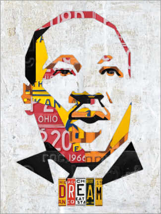 Wood print  Martin Luther King - Design Turnpike