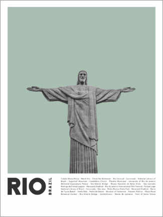 Canvas print  Attractions in Rio - Finlay and Noa
