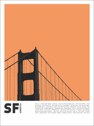 Acrylic print  Attractions in San Francisco - Finlay and Noa
