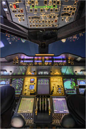 Wall sticker  Airbus A380 Cockpit at Night - Ulrich Beinert