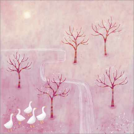 Aluminium print  Geese in the Orchard - Nic Squirrell