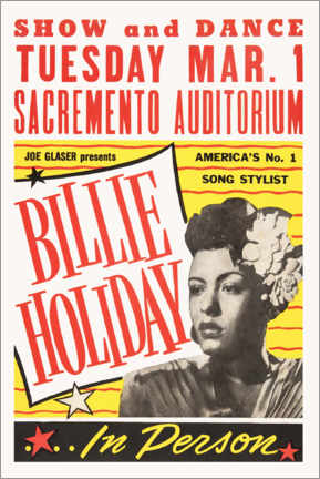 Premium poster  Billie Holiday - Entertainment Collection