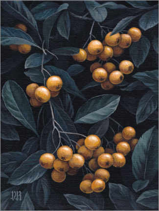Foam board print  Firethorn berries - Vasilisa Romanenko
