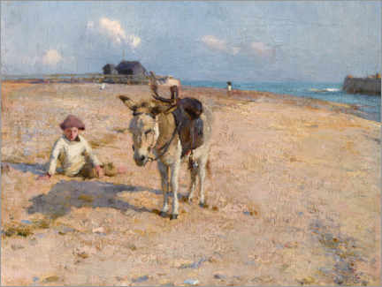 Aluminium print  On Suffolk Sands - Walter Frederick Osborne