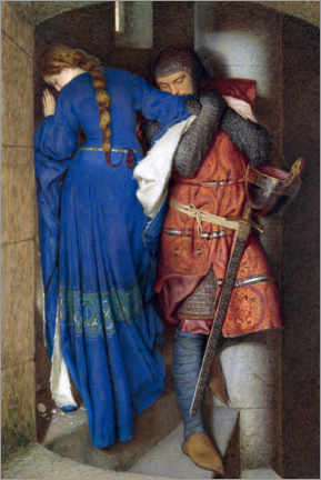 Canvas print  Meeting on the Turret Stairs - Frederic William Burton