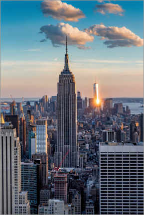 Canvas print  Empire State Building in the sunset - Mike Centioli