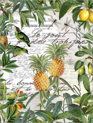 Wood print  Tropical Garden - Andrea Haase