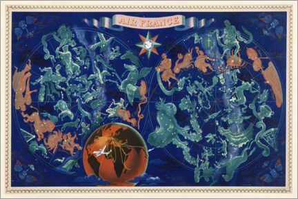 Premium poster  Celestial chart of the Constellations - Travel Collection