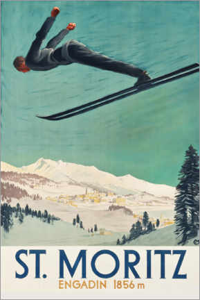 Premium poster  St. Moritz, Engadine - Travel Collection