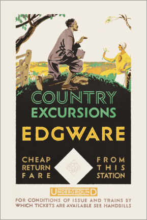 Premium poster  Country excursions, Egware - Travel Collection