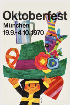 Canvas print  Oktoberfest 1970 - Travel Collection