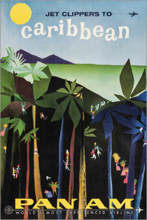 Premium poster  Caribbean via Pan Am - Travel Collection