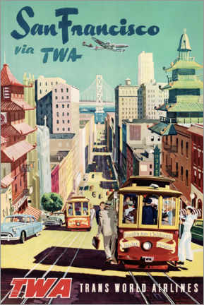 Foam board print  San Francisco via TWA - Travel Collection