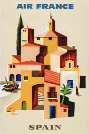 Premium poster  Spain via Air France - Travel Collection