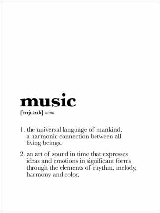 Canvas print  Music - Definition - Michael Tarassow