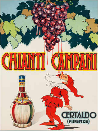 Wood print  Chianti Campani - Advertising Collection