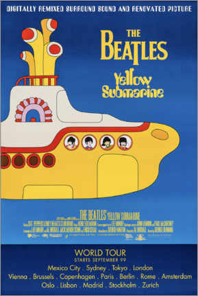 Wood print  The Beatles - Yellow Submarine - Entertainment Collection