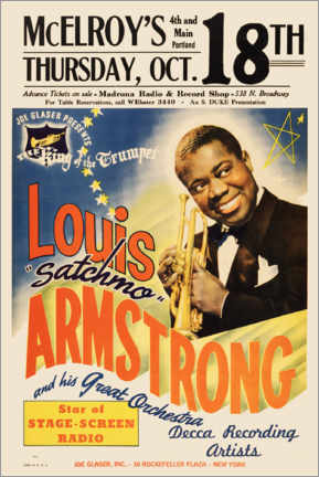 Premium poster  Louis Armstrong Parker Auditorium - Entertainment Collection