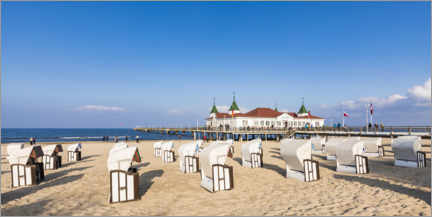 Canvas print  Historic pier in Ahlbeck, Usedom - Dieterich Fotografie