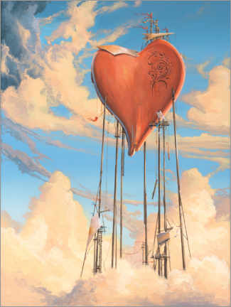 Premium poster Solid Heart
