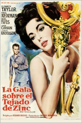 Premium poster Cat On A Hot Tin Roof (Spanish)