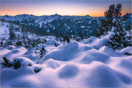 Premium poster Winter landscape in the mountains