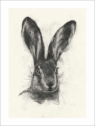 Wood print  Brown hare - Richard Stark