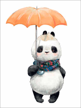Premium poster  Panda bear with an umbrella - Kidz Collection