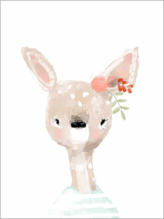 Wall sticker  Miss Deer - Kidz Collection