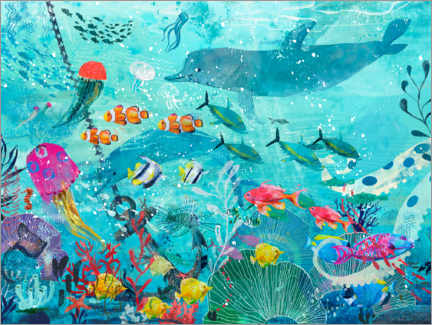 Premium poster Colorful Underwater World