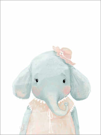 Canvas print  Miss Elephant - Kidz Collection